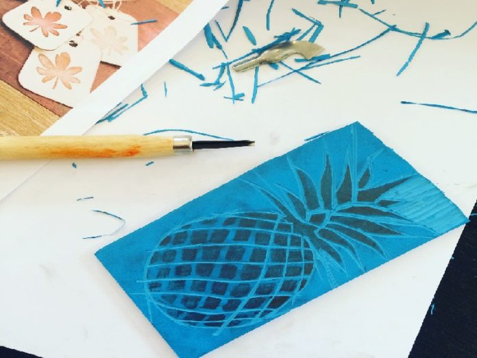 lino printing workshop and courses