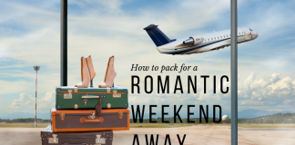 packing for a romantic weekend away