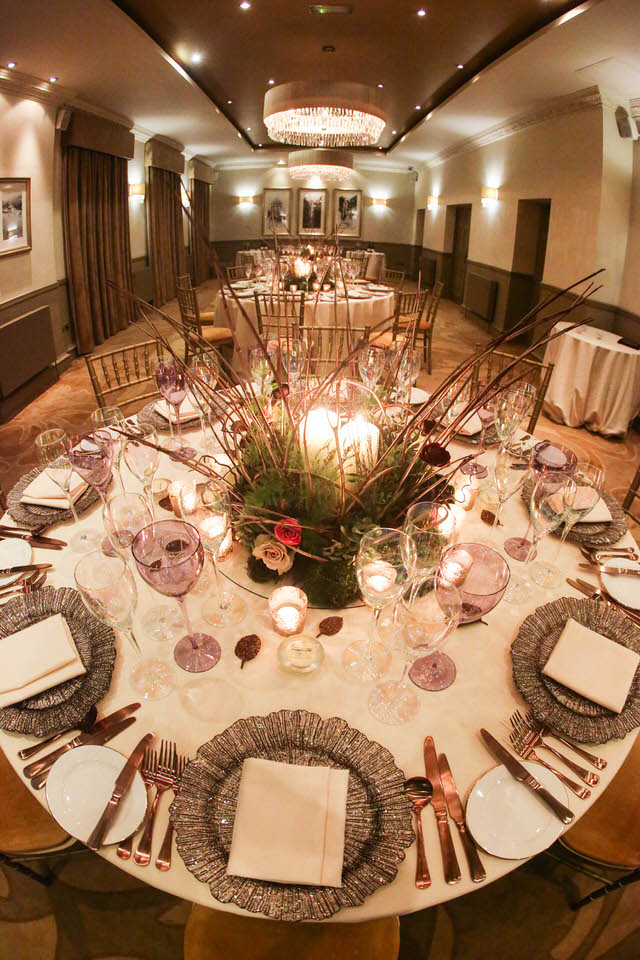dine wedding caterers table setting