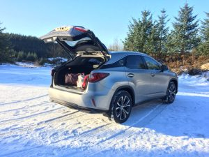 lexus rx suv boot space