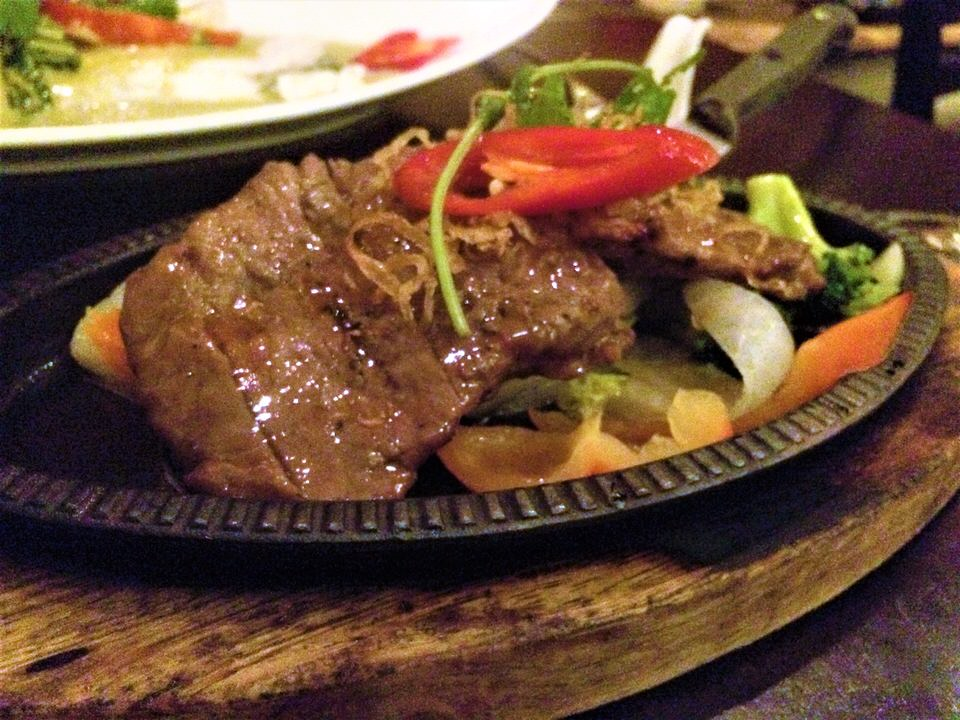 Sukhothai restaurant Harrogate thai beef