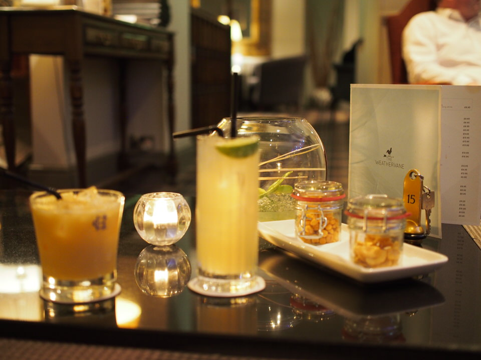 cocktails at the feversham arms hotel and spa