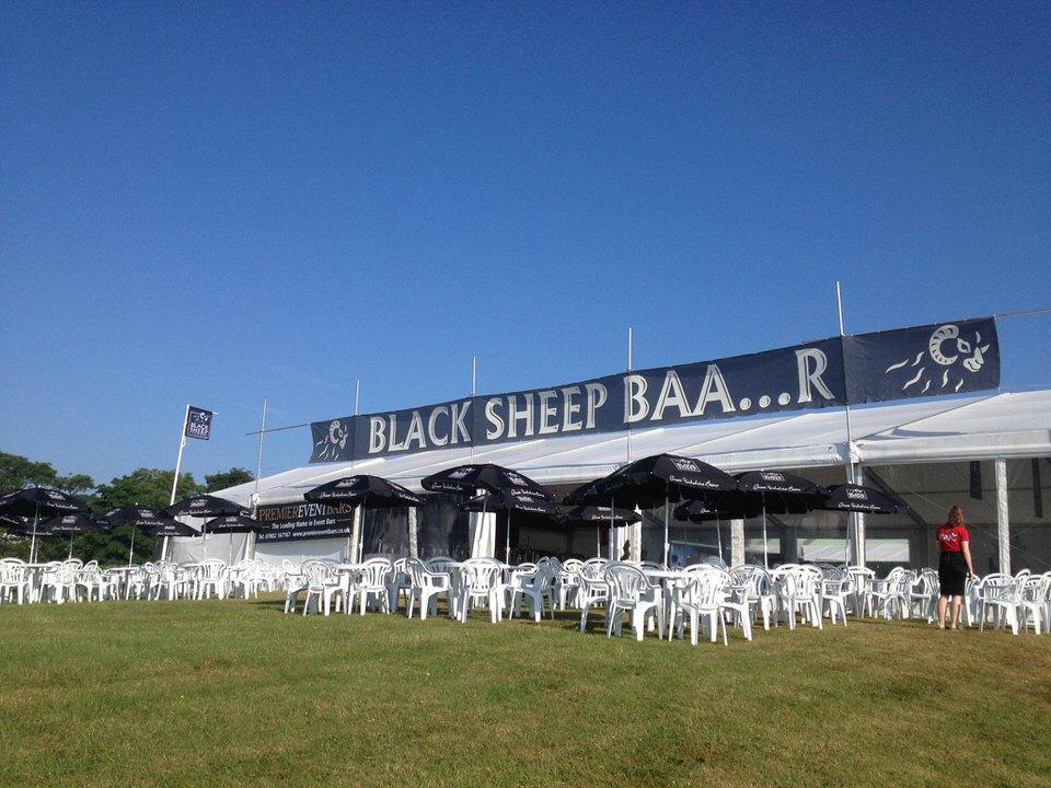 Great Yorkshire Show black sheep bar tent