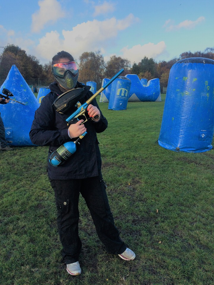 paint balling the harrogate girl