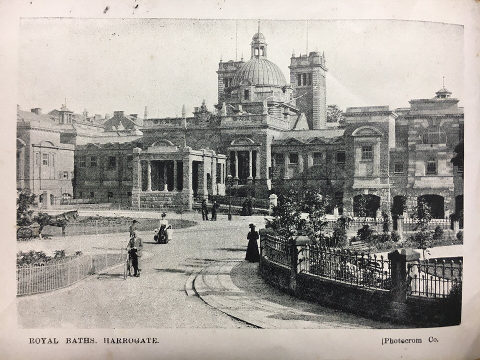 royal baths postcard