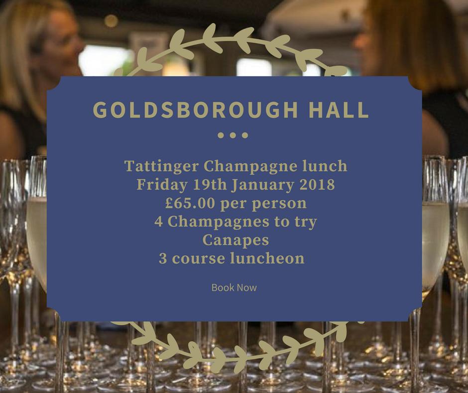 Goldsborough Hall champagne lunch