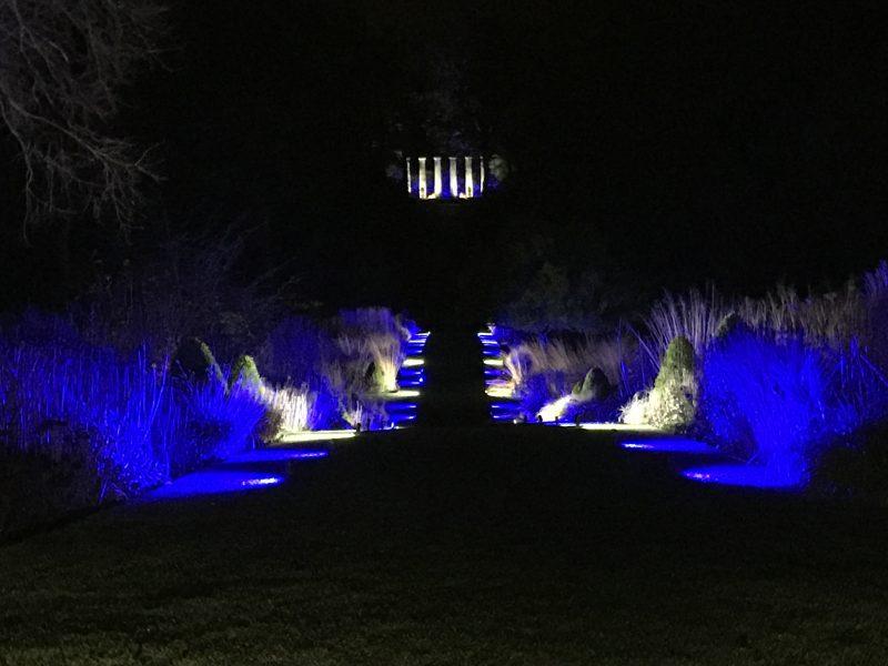 RHS Harlow Carr Garden GLOW lighting
