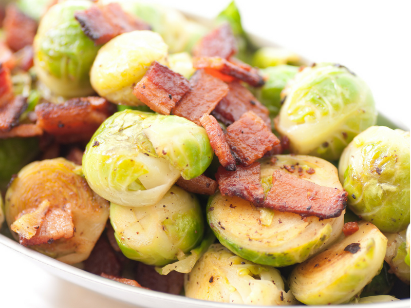 Sprouts at christmas chestnuts and bacon