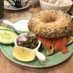 The Harrogate Girl Amsterdam bagel and beans