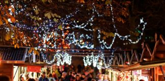 Harrogate at Christmas, Christmas lights, Christmas market
