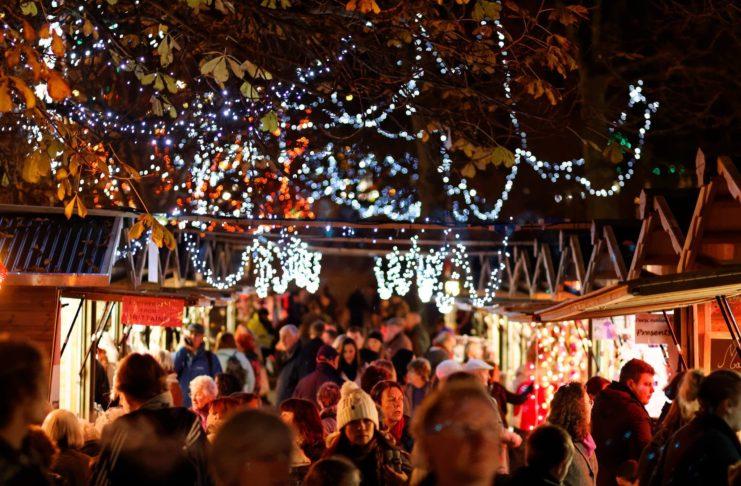 Harrogate at Christmas, Christmas lights, Christmas market