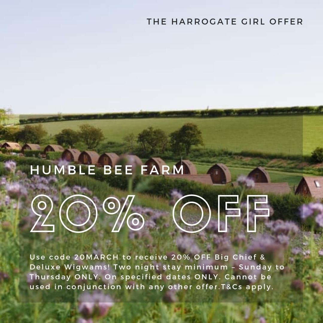 The Harrogate Girl Offer Humble Bee Farm