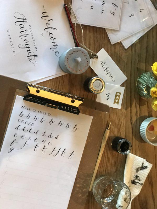 The harrogate Girl Blogger Calligraphy Harrogate1