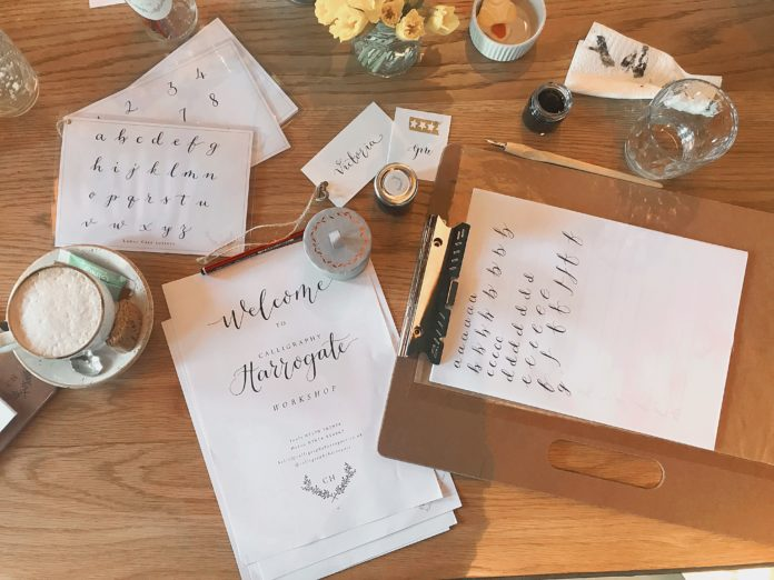 The harrogate Girl Blogger Calligraphy Harrogate1