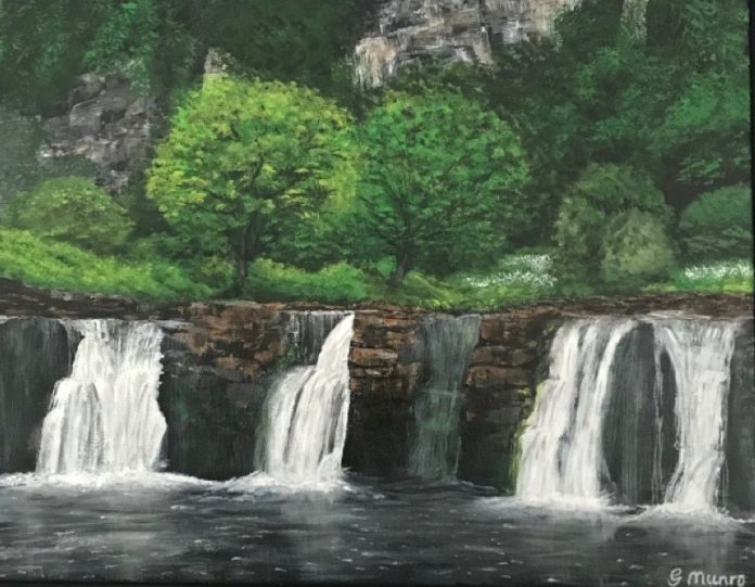 The Harrogate Girl blogger Yorkshire Artist yorkshire waterfall